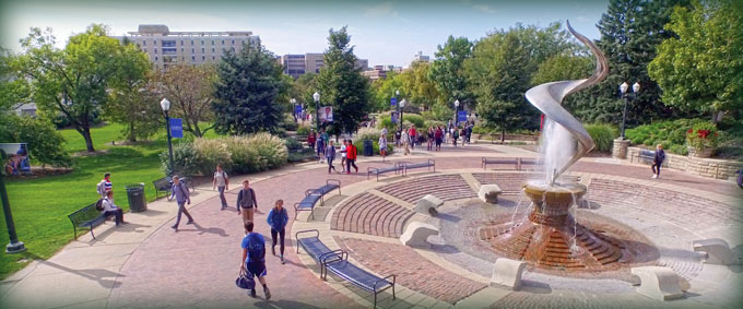 Image of students on the Creighton mall.