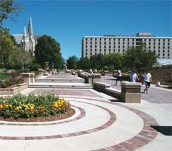 Creighon University's recently redesigned campus mall.