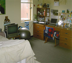 Bedroom with study area.