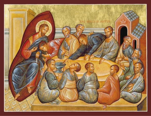 Gesù e i dodici apostoli dans immagini sacre mystical_supper