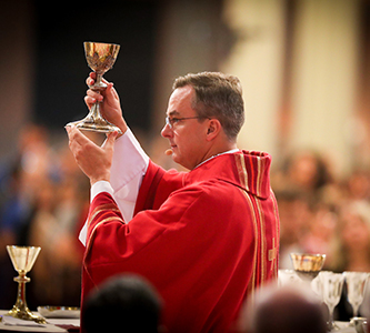 Fr. Hendrickson Shares a Message of 'Great Hope' at Mass of the Holy Spirit