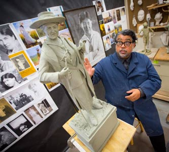 NET Documentary Profiles Creighton Artist Creating Willa Cather Bronze for Statuary Hall