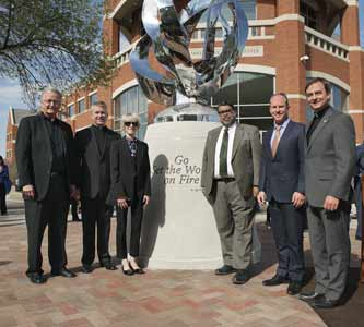Sculpture to honor Jesuits unveiled