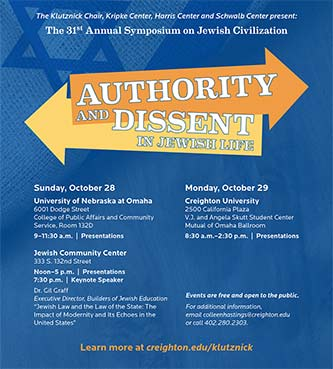 31st annual Symposium on Jewish Civilization looks at authority and dissent in Jewish life