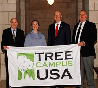 The campus beautiful: Creighton earns another Tree Campus USA designation