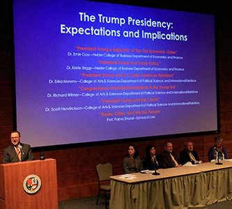 Faculty panel discusses expectations of Trump presidency