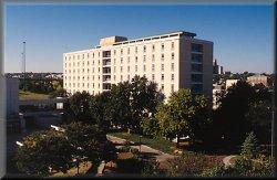 Far shot of Kiewit Hall