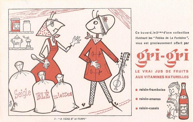 Creighton university aesop 39 s fables gri gri juice - Illustration la cigale et la fourmi ...
