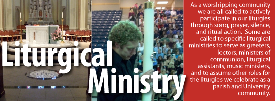 Campus Ministry Liturgical Ministry
