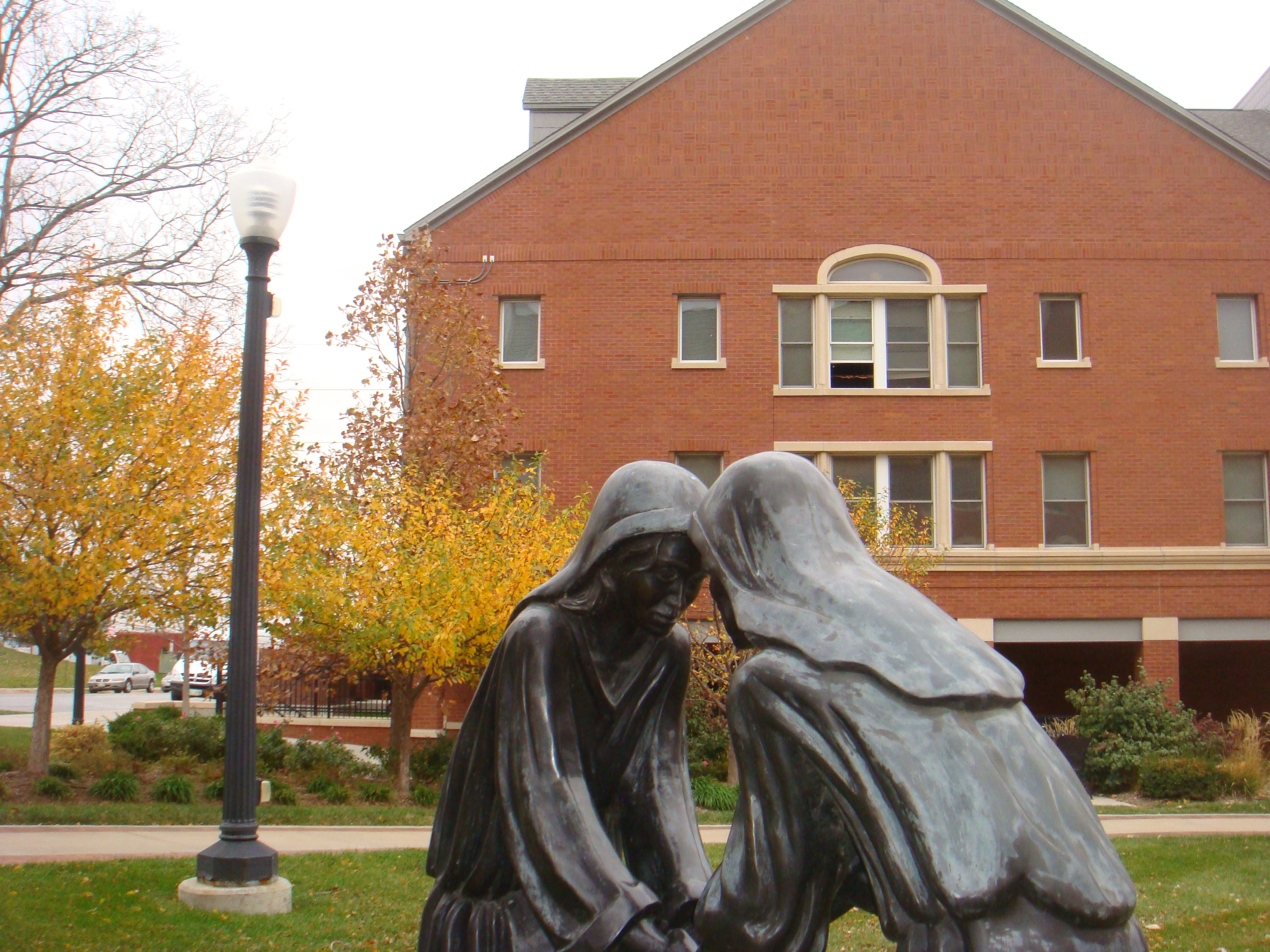 Statue on Creighton Campus
