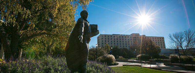 Statue of St. Ignatius on Creighton campus