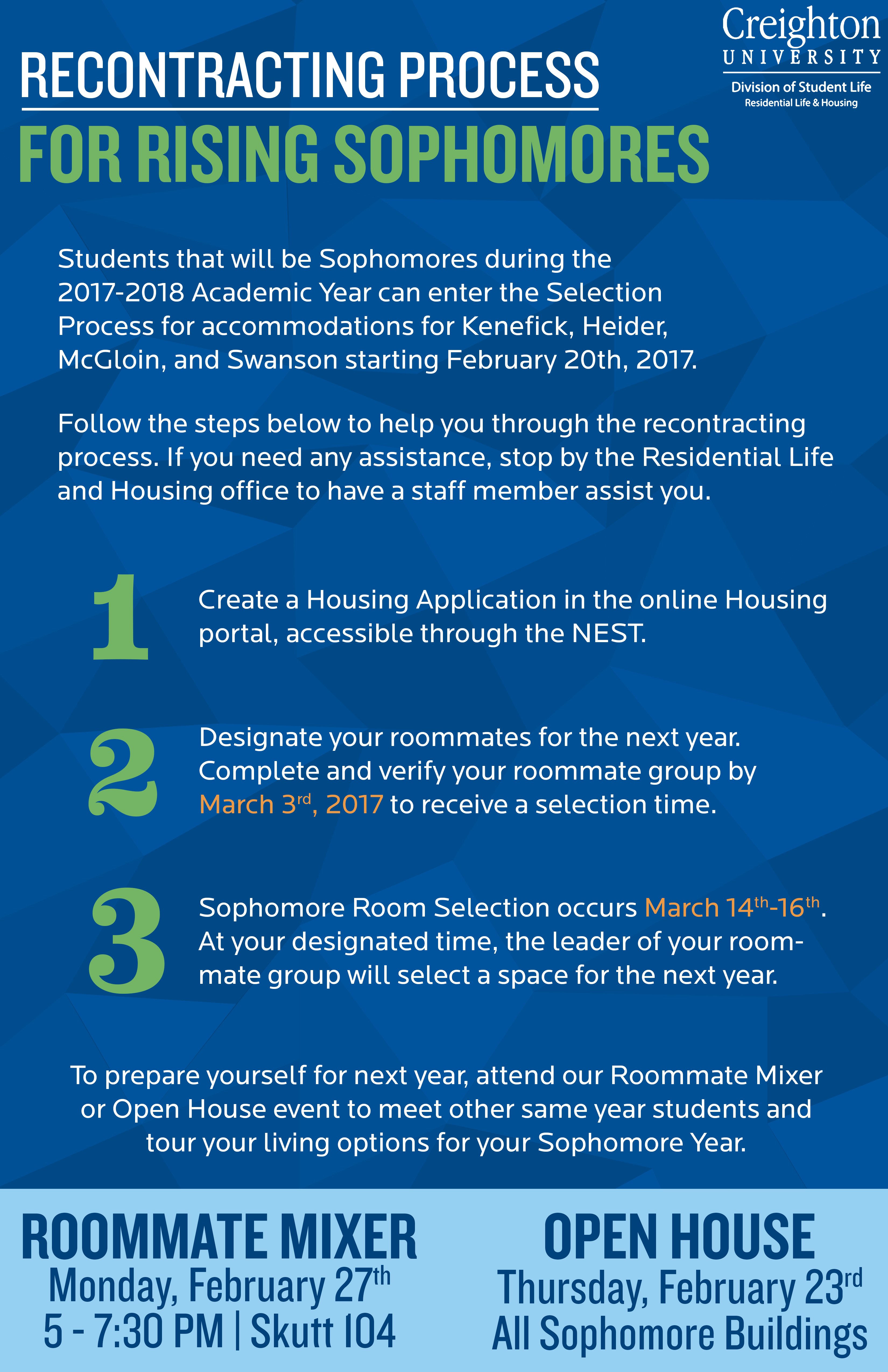 housing re-contracting | residential life and housing | creighton