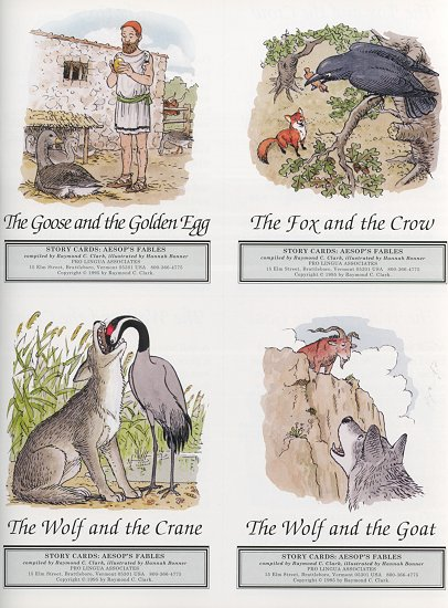 Creighton University :: Aesop's Fables: Story Card Sample